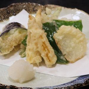 白身魚と青じその天ぷら